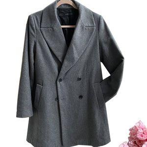 Zara Structured Wool Coat in Grey